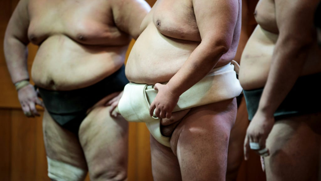 Sumo Wrestlers Contracted Coronavirus in a Training Session in Japan.afp
