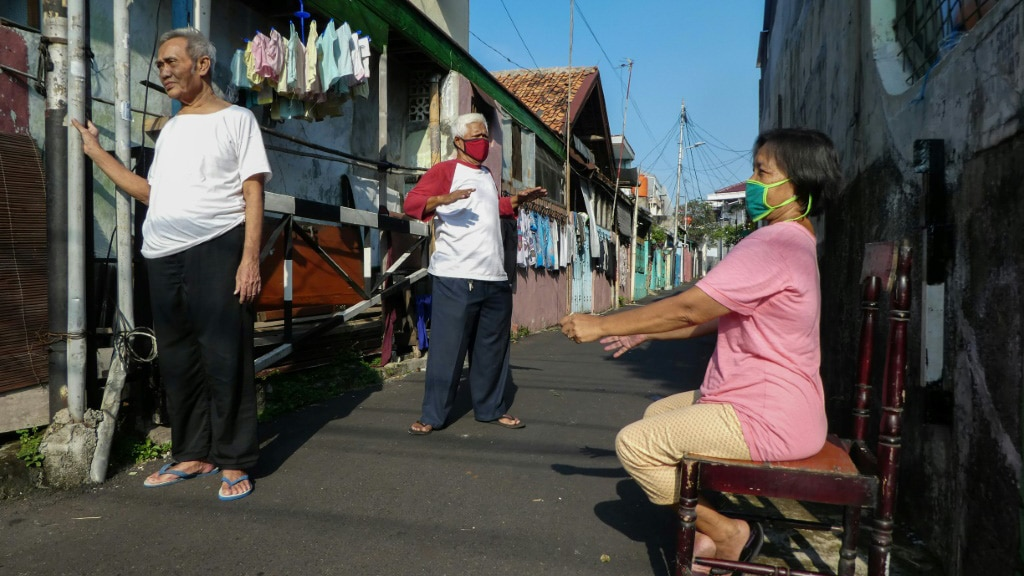 Sunshine Alley in the Backstreet of Jakarta.afp