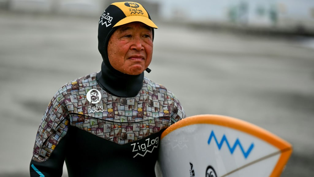 Surfing in Japan.afp