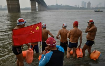 Inspired by Mao, Wuhan River Swimmers 'Reborn' after Virus Lockdown