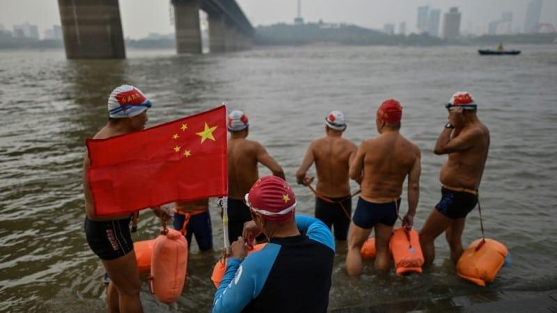 Swimmers in Wuhan