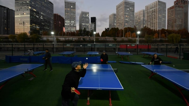 Table Tennis Enthusiasts in Beijing