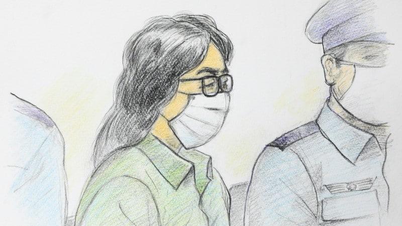 Takahiro Shiraishi in a Court Sketch