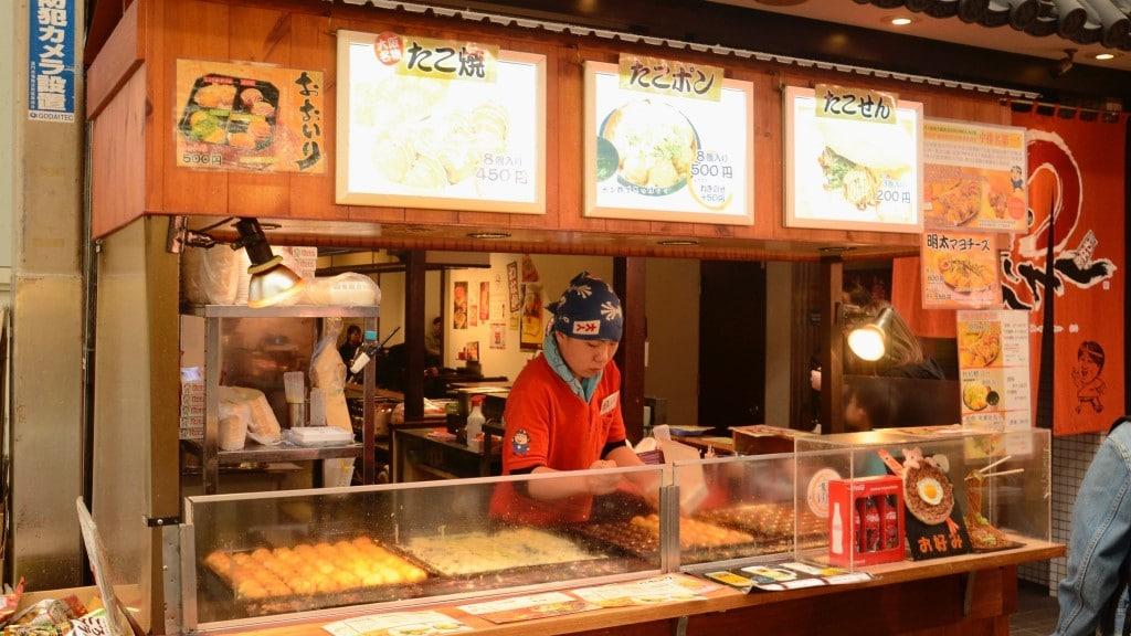 Takoyaki Stand in Kuromon Market © Stephen Kelly