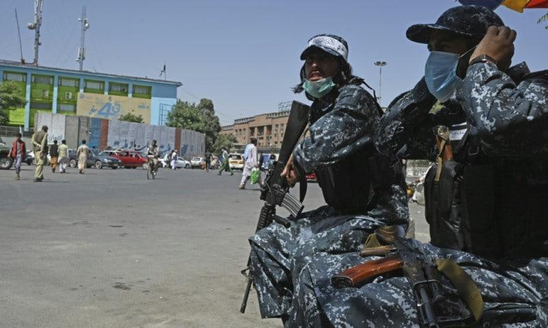 Taliban fighters in Kabul