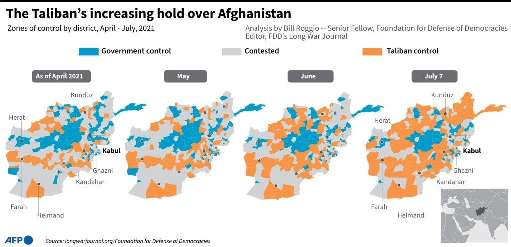 Taliban's Increasing Influence over Afghanistan