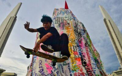 Wheels Up: Bangkok Protesters Skate for Democracy