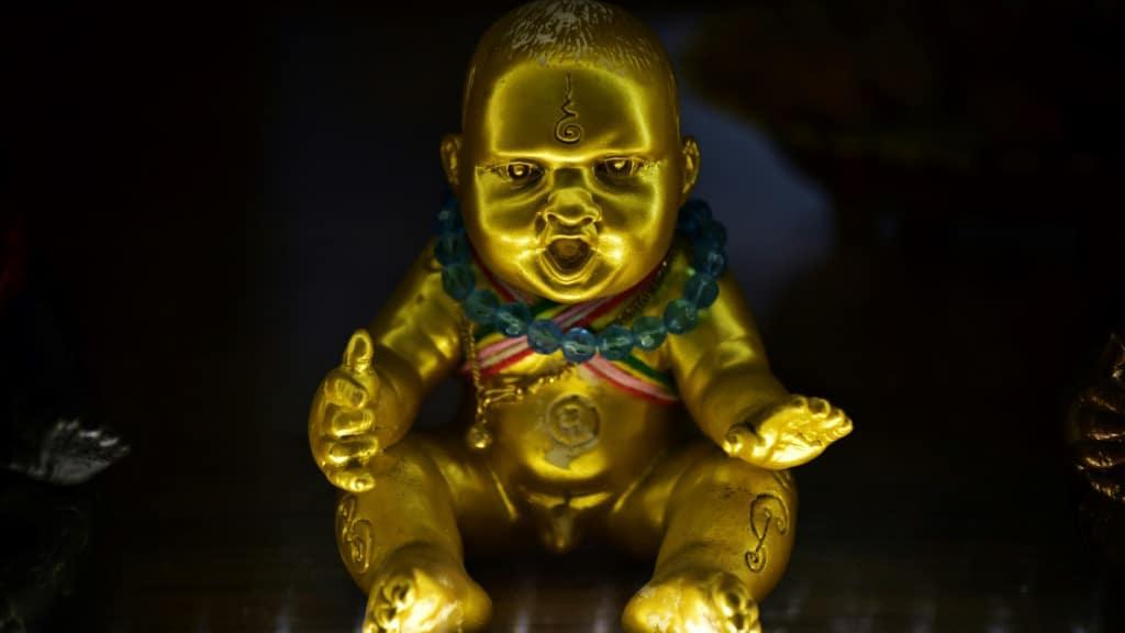 Thailand's Golden Son Dolls.afp