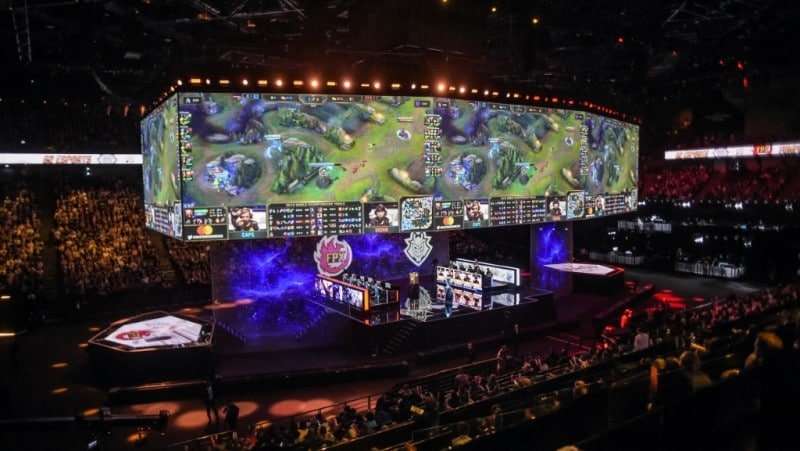 The League of Legends World Championship Final in Paris.afp