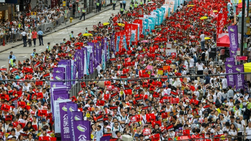 The Million March in Hong Kong.afp