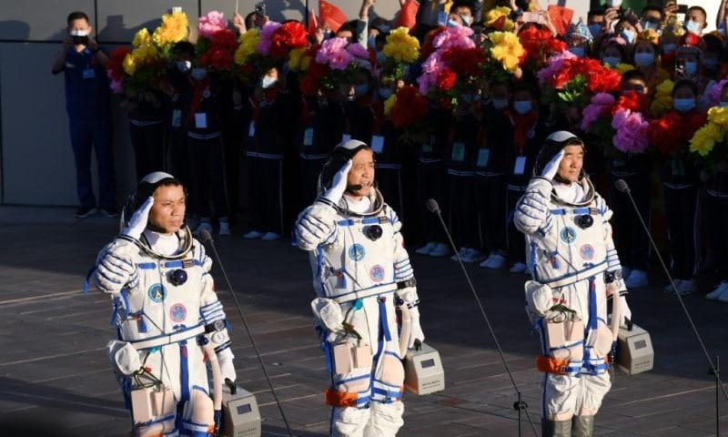 Three Chinese Astronauts