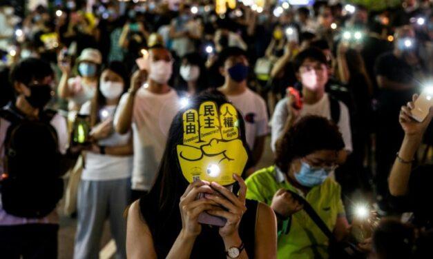 Phone Lights Signal Hong Kong's Tiananmen Memories Still Shine