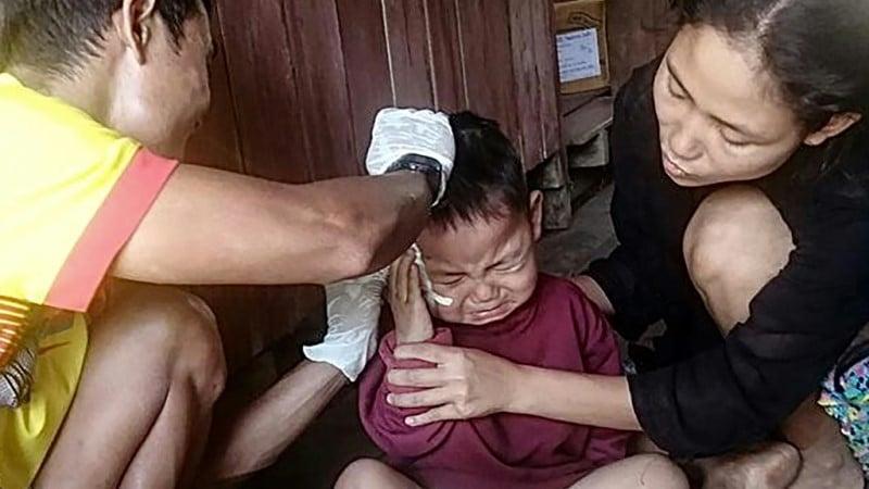 Toddler Survives Airstrike