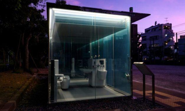 Tokyo Park Gets Transparent Toilets