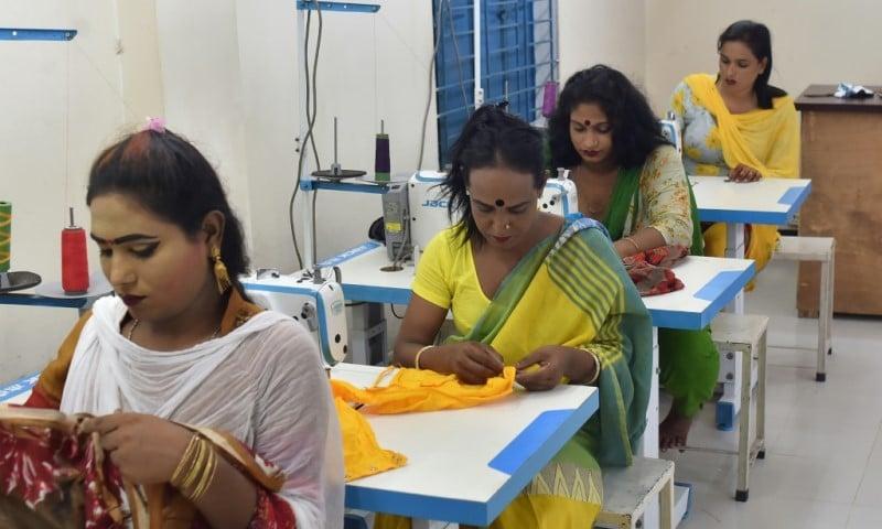 Transgender People Work at Garments Factory