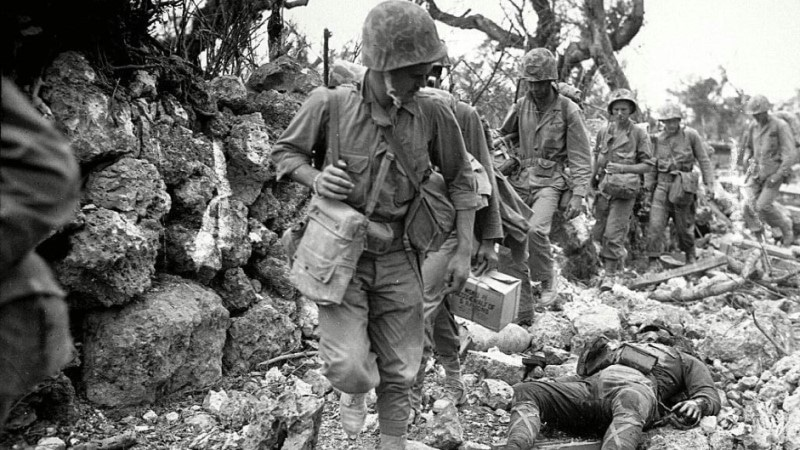 US Marines in Okinawa