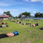 Indonesians Soak Up Sun Rays to Battle Virus