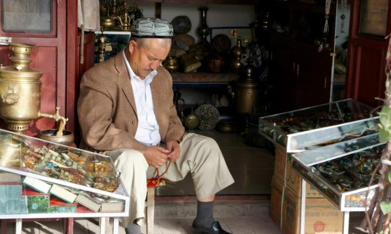 Uyghur Muslim in Kashgar