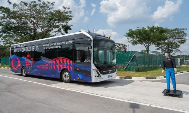 Volvo Tests Out Autonomous Buses in Singapore
