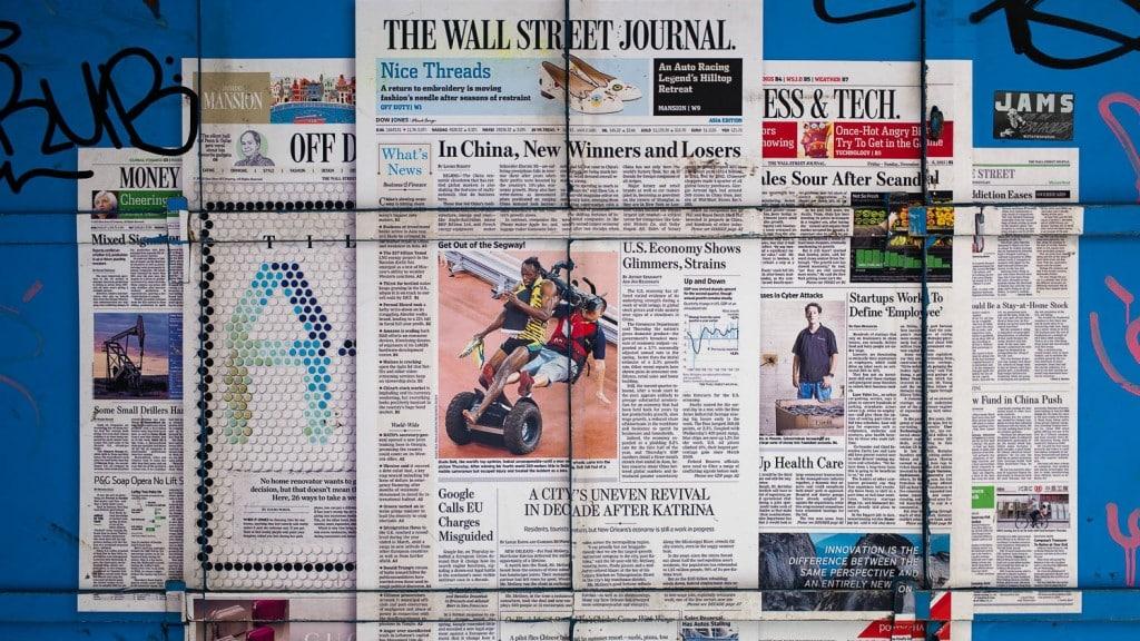 Wall Street Journal Mural ©Andrew Hardacre