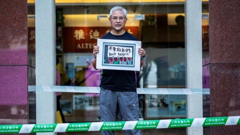Wong Kei-kwan One of Hong Kong's Political Cartonists.afp