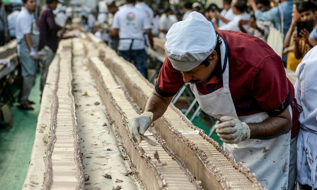 World's Longest Cake India.afp