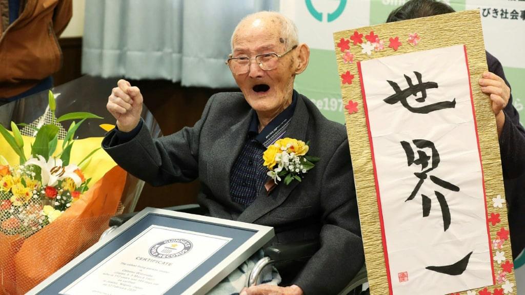 Worlds Oldest Living Male Japan.afp