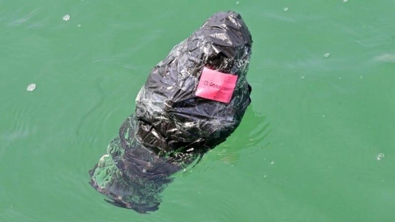 Wrapped Plastic Satellite Beacon