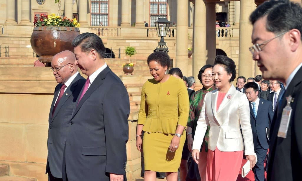 Xi Jinping, President Jacob Zuma Tobeka Madiba Zuma and Peng Liyuan during the China State Visit to South Africa - GovernmentZA