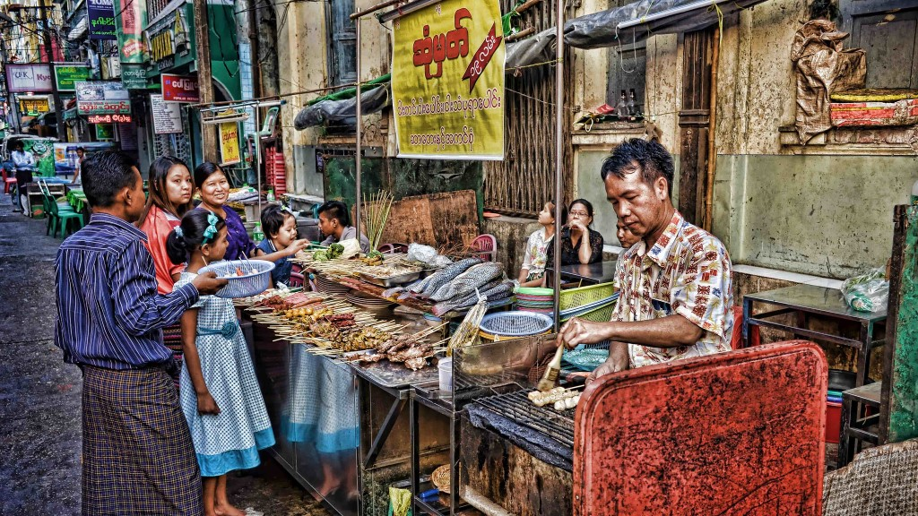 Yangon, Chinatown, Myanmar ©Neville Wootton