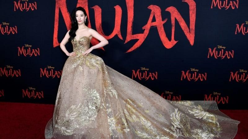 Yifei Liu in the Premiere of Disney's Mulan in California.afp