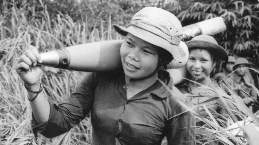 Young Women Carry the Ammunition to the Front in Vietnam.afp