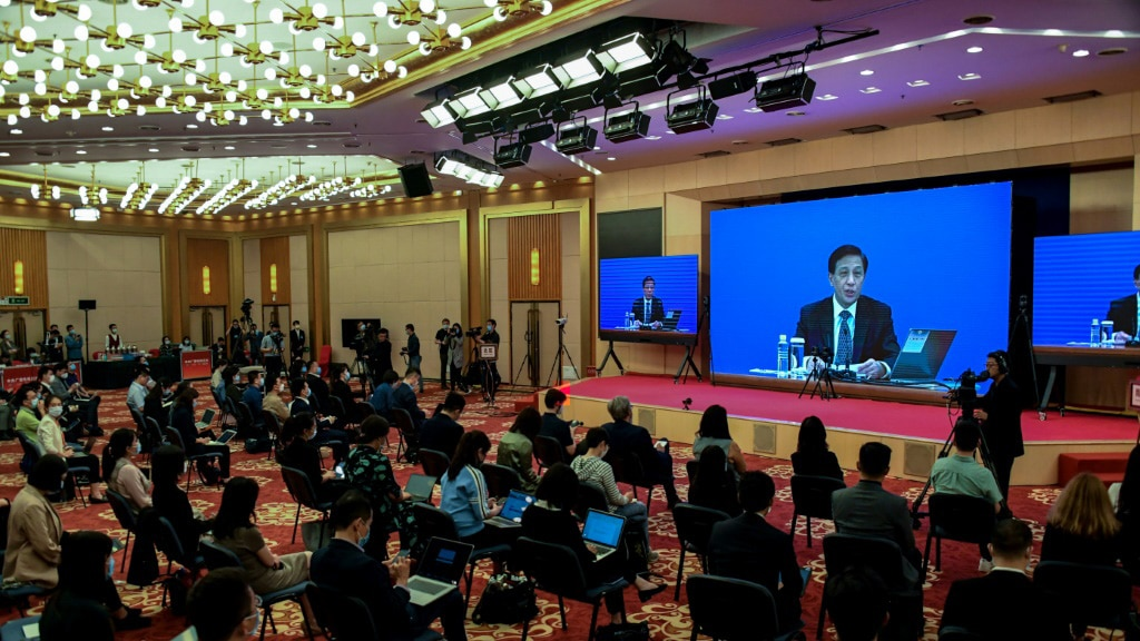 Zhang Yesui said China's Parliament Considered the Move Necessary.afp